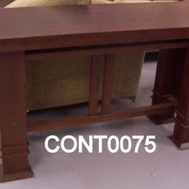 Carlton Deco 5' Mahogany  Console Table