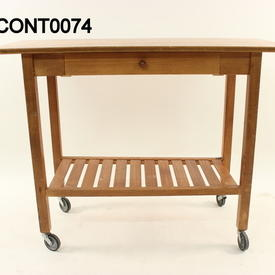 Hyllinge Rex Cherry 1 Drawer Mobile Console Table