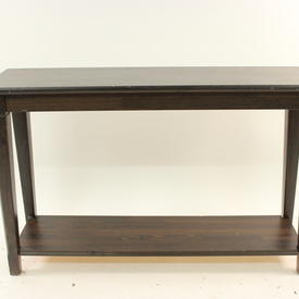Dark Stained Pine 2-Tier Ikea Console Table