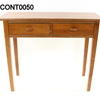 Pbj Teak 2 Drawer Hall Table  (50s)