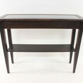 Hyllinge Wenge & Glass inset Console Table