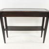 Hyllinge Wenge & Glass Inset Console Table