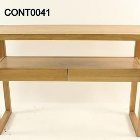 Creafort Oak Oil Wax 2 Drawer Console Table