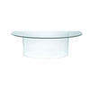 2 Part Curved All Glass Desk (109cm X 227cm X H72cm)
