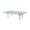 Rectangular Clear & Mirrored Moulded Glass R.A. Knox Coffee Table (120cm X 80cm X 35cm H)