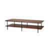 "Rect Walnut & Black Metal ""Rise"" Coffee Table ( H: 37cm L: 150cm W: 60cm )"