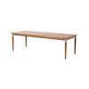 Rect. Danish Rosewood Coffee Table With Steel Ring Leg (141cm X 56cm X 43cm H)