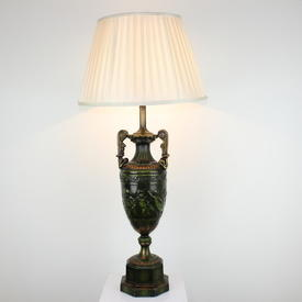 Bronze, Green & Gilded, Geek Urn Shaped Table Lamp