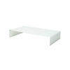 Low Rectangular White Glass 'rialto' Coffee Table