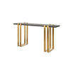 Black & Brushed Gold Console Table (150cm X 40cm X 77cm H)