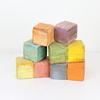 Set Of 12  Pastel Colour, Fixed Building Blocks.  (Y)