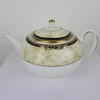 White, Navy & Cream Decor Wedgwood Cornicopia Teapot & Lid  (Y)