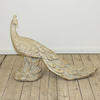"""22"""" Carved Wooden Peacock  (Y)"""