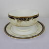 White, Navy & Cream Decor Wedgwood Cornicopia Sugar Bowl  (Y)