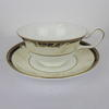White, Navy & Cream Decor Wedgwood Cornicopia Teacup  (Y)