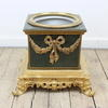 29cm Square Green Ceramic & Gilt Bronze Decorative Planter  (Y)
