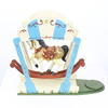 "9"" Hand Painted Rocking Horse Toy On Wooden Stand (Y)"