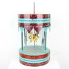 Blue & Red Metal /Wooden Victorian Style Carousel Toy (Y)