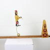 5'6 Vict Style Balace Toy Monkey On Tightrope & Wooden Stand (Y)