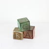 "3"" Wooden Trio Of Toy 'abc' Bricks  (Y)"