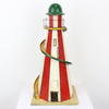 "16"" Red & White Wooden Toy Helter Skelter  (Y)"