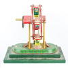 "10"" Red & White Toy Ferris Wheel On Green Base  (Y)"