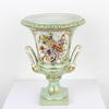 "10"" Small Pale Green & Gilt Porcelain Musical Design Urn  (Y)"