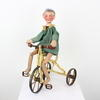"15"" Green & Cream Puppet On Tricycle Toy  (Y)"