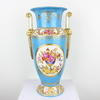 "17"" Blue & White Porcelain Twin Handled Floral Vase  (Y)"