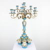 2' Pale Blue & Gilt Ornate Porcelain 10 Light Candelabra  (Y)