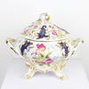 "9"" White & Gilt Floral Porcelain Tureen & Lid  (Y)"