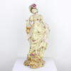 "18"" Cream Floral Porcelain Lady Figurine With Gold Handbag  (Y)"