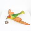 Plastic Orange & Green Bird  (Y)