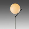 Matt Black Tall 'ic' Table Lamp With White Glass Globe Shade