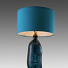 Blue Glass 'simplicity' Bottle Table Lamp