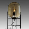 Champagne Glass Table Lamp In Black Metal Stand