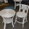 Off White Bambo/Cane Titanic Cafe  Style Chair