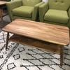 Natural Hardwood 'shoreditch' Undershelf Splay Leg Coffee Table (100 Cm X 50 Cm)