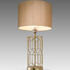 Gold Wire Diamond Table Lamp With Gold Drum Shade