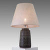 Dark Grey Embossed Pattern Lamp With Linen Shade