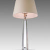 Crystal Glass Oct. 'spire' Table Lamp With Cream Shade