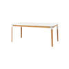 Rect. Beech & White 'steelwood' Dining Table (90cm X 180cm X H76cm)