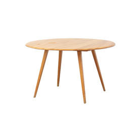 Oval Elm Wood Dining Table