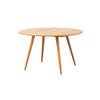 Oval Elm Wood Dining Table ( H: 70cm L: 122cm W: 112cm )