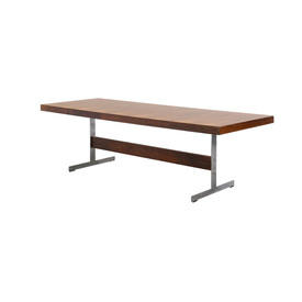 Rosewood Merrow Dining Table on Chrome T Bar Base
