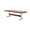 Rosewood Merrow Dining Table On Chrome T Bar Base ( H: 73cm L: 240cm W: 90cm )