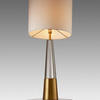 Crystal & Antique Brass 'edvin' Cone Table Lamp With White Drum Shade