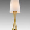 Brass Wire Waisted 'holmes' Table Lamp With White Shade