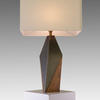 Black & Gold Quinn Table Lamp & Rect. White Shade