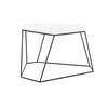 White Marble Six Sided Bunker Coffee Table On Wire Stand